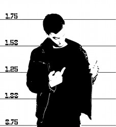 Mugshot with Finger
